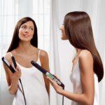 Come piastrare i capelli in casa