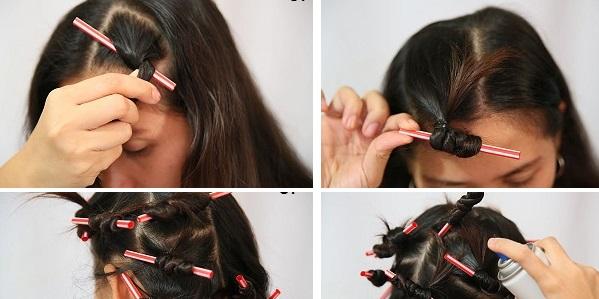 Come usare una cannuccia per arricciare i capelli
