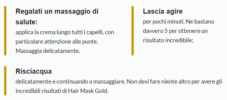 HAIR GOLD MASK opinioni