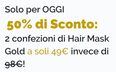 Hair Mask Gold prezzo